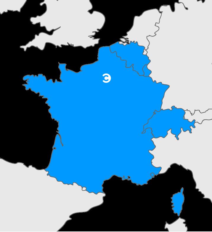 Périmètre d'intervention de COLEO : France, Belgique et Luxembourg